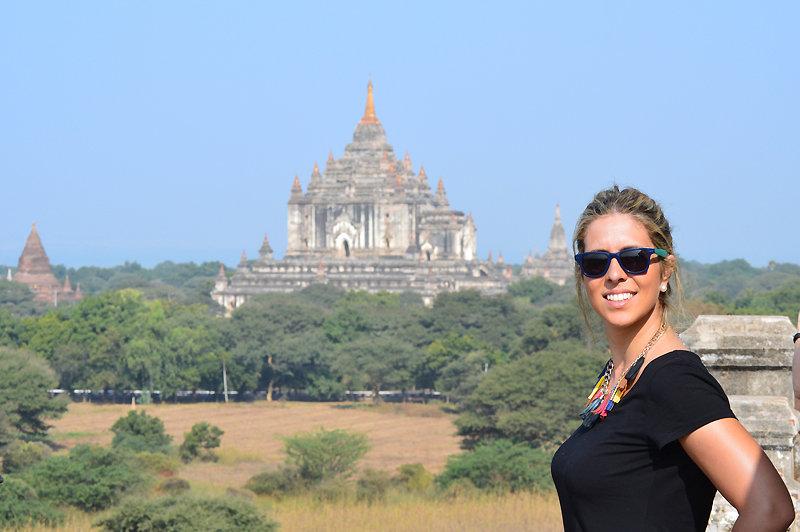 Vista de los templos birmania
