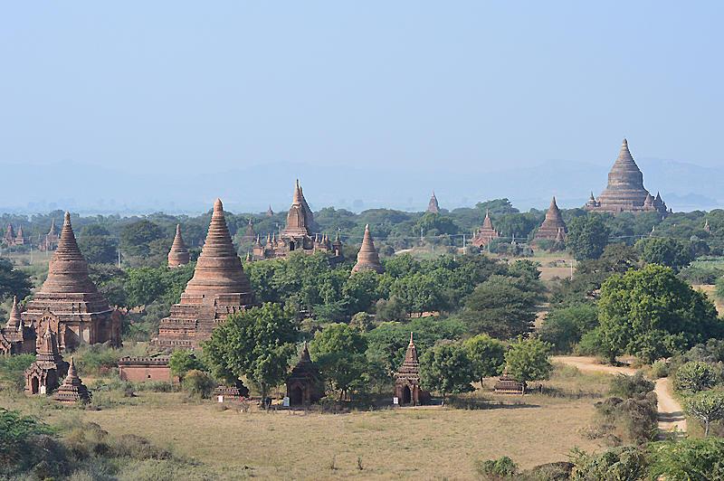 vista pagodas birmania